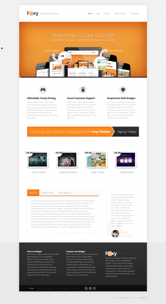 Theme wordpress premium elegant