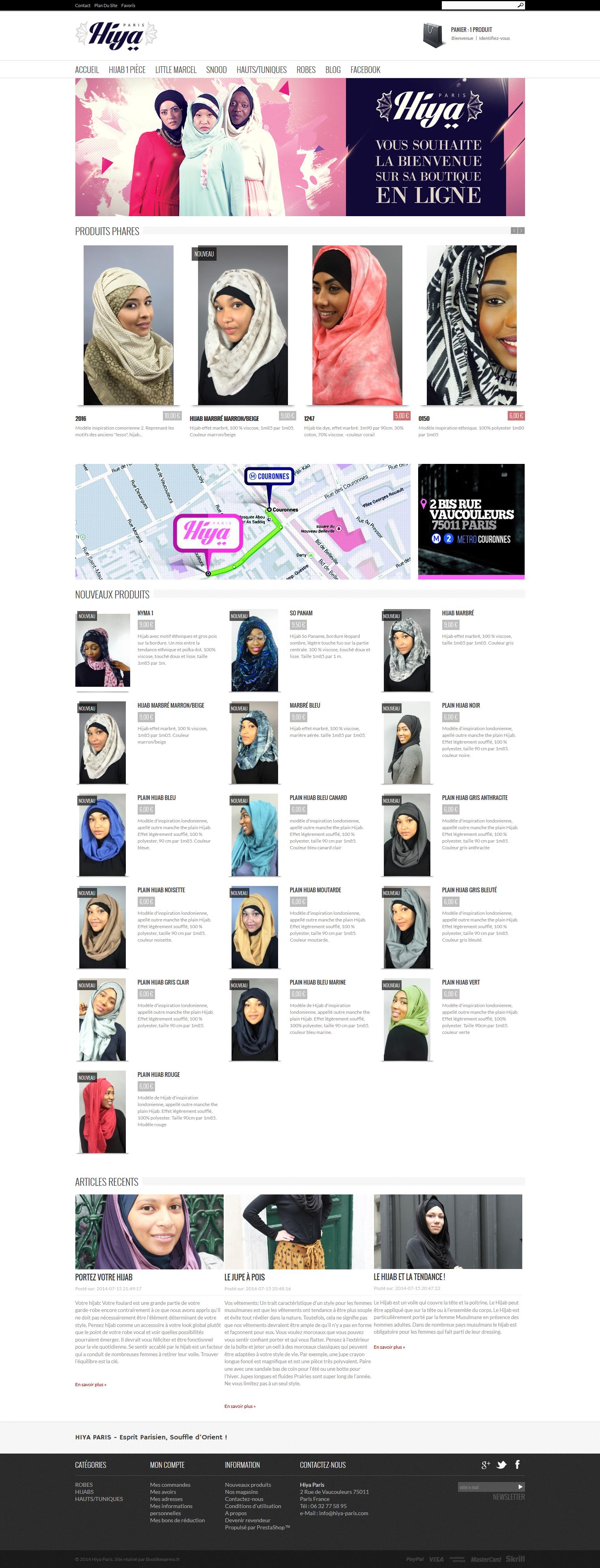 Site PrestaShop Muslim Hiya Paris