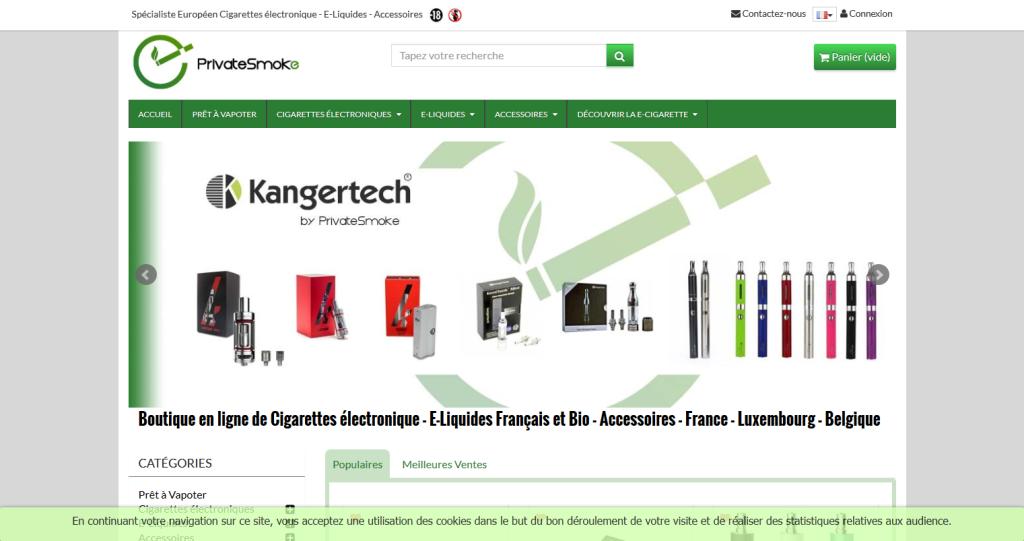 Boutique cigarette electronique PrestaShop