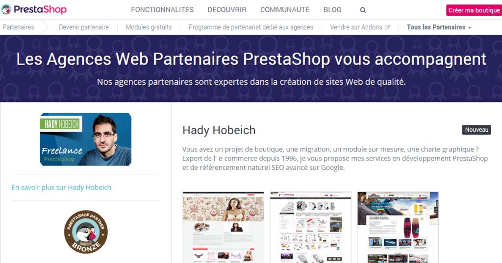 certification partenaire prestashop freelance bronze