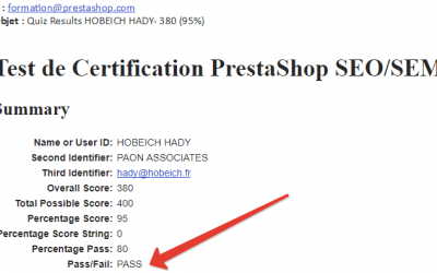 Certification PrestaShop SEO/SEM