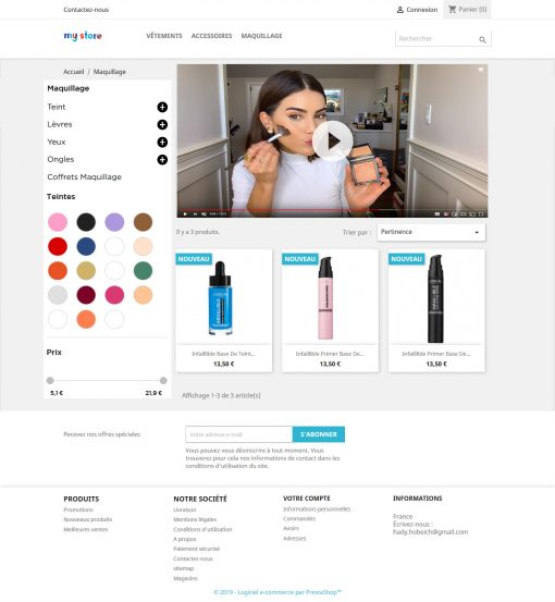 video live shopping module prestashop