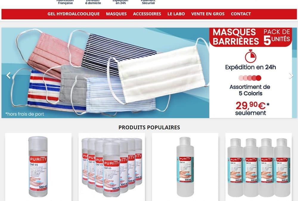 Boutique de Gel hydroalcoolique fabriqué en France